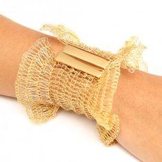 Bracelete Crochê Semi Joias  #moda #acessorios
