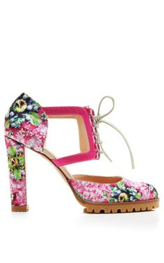 Shop Lucky Strike Alexa Booties by Mary Katrantzou for Preorder on Moda Operandi