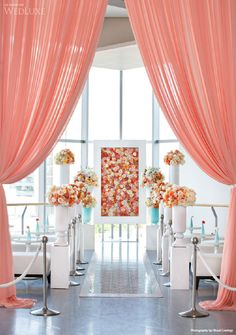 Coral curtains // Photography: Visual Cravings