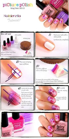 TUTORIAL – Pink Dreams Nail Art #nails #fashion #nailart
