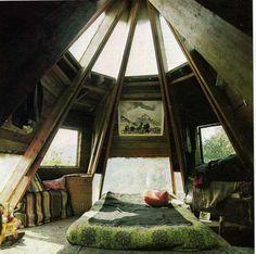 Hippie loft decor, futur, attic bedrooms, hippi loft, altern hous, dream hous, ceilings, bohemian, dream rooms