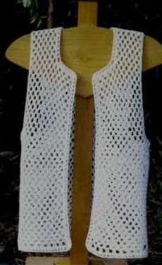 Beginner Crochet Vest Pattern : Chalecos y Sweters on Pinterest Vest Pattern, Crochet ...