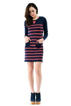 ronson breton, sweater dresses, breton stripe, charlott ronson, stripe sweater