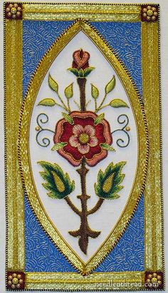Mission Rose Silk and Goldwork Embroidery Project she does amazing work, great tutorials