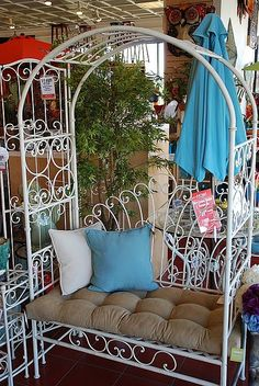 Jardin de Marie Trellis Bench.  It's actually an outdoor piece of furniture, but I'm going to use it HJ's reading nook with lots of fun pillows.