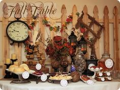 Fall Table and recipes