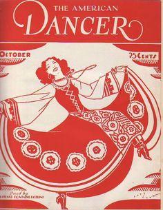 1929 American Dancer October-Myrna Loy; Anna Pavlowa