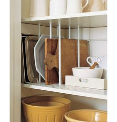 Tension rods in cabinets=genius