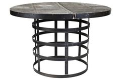 Perpetua Recycled-Metal Dining Table on OneKingsLane.com-dining table base?