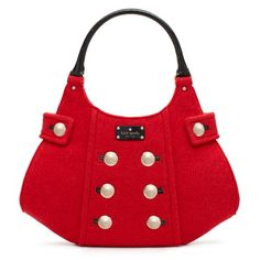 Fox Chapel Charlie by KAte Spade: Made of Italian felt and patent cowhide trim. On Sale, $162. #Kate_Spade #Tote #Fox_Chapel_Charlie Designer Handbags, Design Handbags, Red Kate Spade Purses, Style Pinboard, Gucci Handbags, Spade Foxes, Foxes Chapel, Fabrics Purses, Chapel Charlie