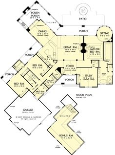 The Hartwell House Plans First Floor Plan - House Plans by Designs Direct.    I absolutely love this floor plan
