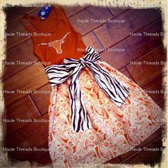 You send her a shirt and she sends you back a cute dress! Fantastic idea!