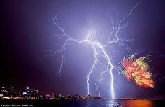 australia day, lightning, perth, nature, seasons, fireworks, electr storm, beauty, western australia