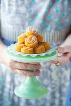 Glazed Sour Orange and Coconut Pudding Cakes :: Cannelle et Vanille