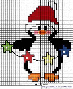 cross stitch chart penguin
