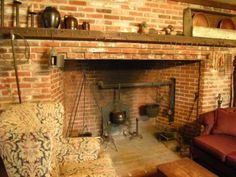 Fireplaces were more than a means to warm the house. In colonial homes much of the cooking was done using tools specifically for the needs.