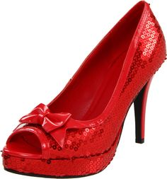 Ladies 420-Dorothy Red Bridal Pump by Ellie Shoes