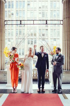 Town Hall wedding, photo by Louisa Bailey http://ruffledblog.com/melbourne-town-hall-wedding #weddingceremony #ceremonies