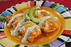 Chicken Avocado Ranch Enchiladas from @JuanitasCocina