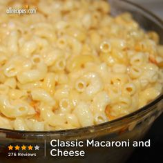 "Classic Macaroni and Cheese | ""My kids, who are lovers of mac and cheese, really dug into this and ate three helpings each."""