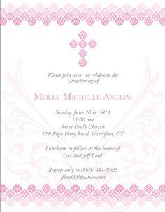 My daughter's Christening Invitation