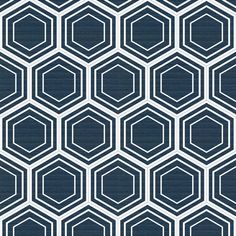 honeycomb (navy) fabric by thebline on Spoonflower - custom fabric