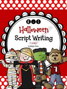 Halloween Script Writing (K-1) from Paulas Place on TeachersNotebook.com -  (40 pages)  - Halloween � Script Writing (K-1) Use this Halloween holiday theme to start your grade on script writing or consolidate the skills they have. Use planners, storyboards, speech bubbles and an Interactiv