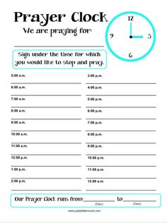 Prayer Clock