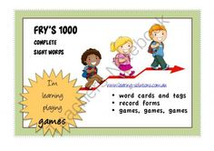FRYS 1000 COMPLETE SIGHT WORDS from learning-solutions on TeachersNotebook.com -  (50 pages)  - FRY'S COMPLETE 1000 SIGHT WORDS with cards, tags, student records and games