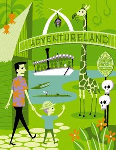 Adventureland #disney #art #retro