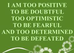 I Am Too Positive