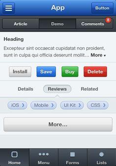 Mobile CSS UI Kit Home
