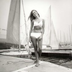 A very young Farrah by the boats in Marina Del Rey, shot by the great Harry Langdon. I am a very lucky man to have known Harry since I was a  little boy and even luckier to have have assisted Harry for many years at his Beverly Hills Studio. Harry taught me the secret of photography, making everyone in front of your lens feel adored, amazing and gorgeous.