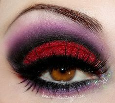 Vampy Halloween makeup, by Bows and Curtseys...Mad About Makeup.