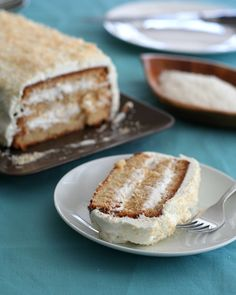 Low-Carb & Gluten-Free Coconut Cake  | @Carolyn Rafaelian Ketchum #cake #dessert #coconut #glutenfree