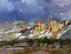 """Albert Handell, artist  """"Approaching Storm"""", 22x28, oil"""