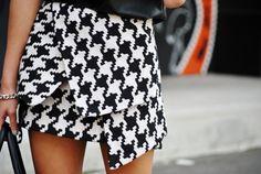 Minimal fashion and design. boutiqu, monochrome, cloth, style, white fashion, fashion prints, black white, mini skirts, houndstooth