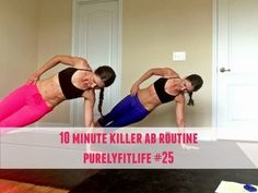 A killer 10 minute ab workout #purelyfitlife Core workout