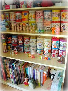 my japanese Karel Capek tea tin collection and some of my toy collection
