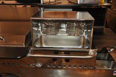 Two basket Fryer Unit fits standard steam table  #TopDogCarts