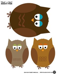 Owl Print outs