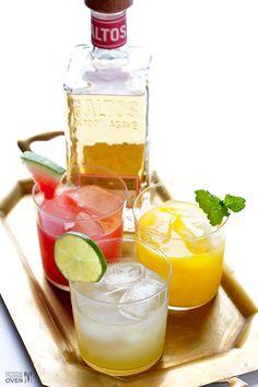 Skinny Margaritas + How To Make A Skinny Margarita Bar | gimmesomeoven.com