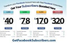 Get Facebook Subscribers  http://www.TheSocialMediaStore.com