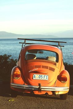 1970's VW on the beach