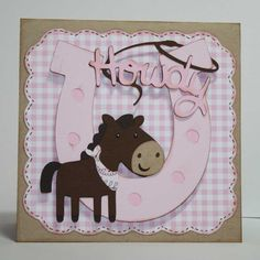Cowgirl birthday invitations - horse and western theme, custom design, set of 12.  $30.00, via Etsy. Like the design, maybe something similar