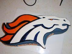 Denver Bronco Cake Design