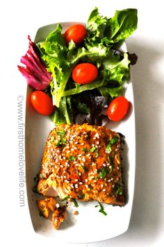 Honey Balsamic Teriyaki Salmon..Yum! Tastes just like the one at Macaroni Grill #salmon #recipes #dinnerideas