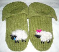 Fleecy Felted Slippers - Loom Knit