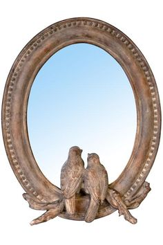 bird mirror, mirror mirror, decorative mirrors, wall mirrors, homes, birds, wood frame, bedroom suit, wood walls