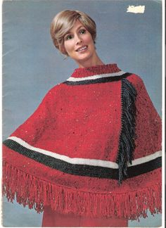 Knit Poncho Pattern  JAMBOREE by suerock on Etsy, $3.99